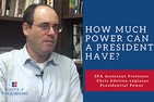 Tile for YouTube video: How Much Power Can a President Have?