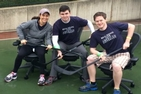 AU Real Estate students participate in the chair hockey event.