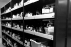Photo of chemical storage shelf