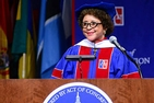 American University School of Communication commencement speaker Sheila C. Johnson.