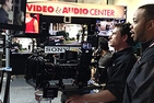 Student using SONY equipment at the 2014 NAB conference