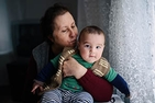 Turkish grandmother and grandson.