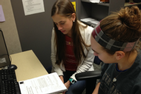 Two students in a tutoring session