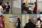 Four-photo collage of students presenting at the 2016 UGRS