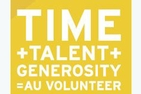 TIME+TALENT+GENEROSITY=AU VOLUNTEER