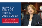 How to Behave Like a 2016 Voter: An SPA Policy Explainer with Professor Jan Leighley