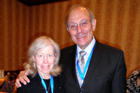 Deborah Rhode, Stanford Law School professor and former AALS president, with WCL dean Claudio Grossman,