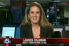 Lauren Feldman, associate professor of communication discusses political comedy with Fox 5 WTTG.