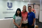 Stephanie and her mentors at Unilever