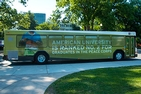 American University's new biodiesel shuttle bus