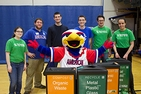 Green Eagles Bring Awareness to RecycleMania 2014 at AU Basketball Game