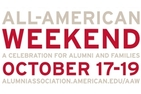 All American Weekend a celebration for alumni and families October 17-19 sign