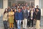 Photo: SIS students meet Delhi University students. Professor Amitav Acharya is in the center.
