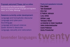 Lavender Languages poster
