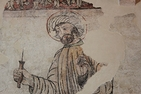 Detail of St. Anianas showing both a halo and a turban