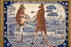 Photo: painting of Danie Mellor entitled Culture Warriors, 2008<br />