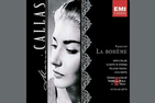 Cover of La Boheme opera CD featuring an image of Maria Callas's face