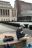 Former AU computer science major and Columbia engineering student, Brendan Burke on Columbia's campus.