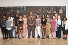 Jelani Cobb with students and faculty members