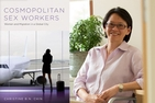 Dr. Christine Chin and the cover of her book, Cosmopolitan Sex Workers