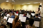 Photo of the Symphonic Band rehearsing by Vanessa Robertson.