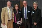 Rocco Landesman, Phyllis Peres, Peter Starr, and Sherburne Laughlin at the NEA Forum at American University.
