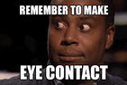 Kenan Thompson making eye contact.