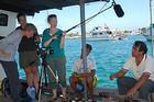 Students filming in the Galapagos