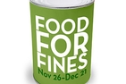 Food For Fines Nov 26–Dec 21, 2012