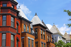 Image of brownstone buildings in DC