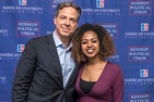 Jake Tapper with Student Mirchaye