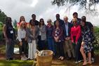 Online MBA students in Nairobi, Kenya at a coffee and tea farm.