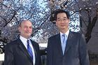 Photo: SIS Dean Louis W. Goodman and Korean ambassador Han Duk-Soo