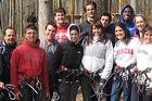 Business Students Learn Team Building at Adventure Course