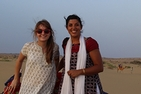 Photo of Sydney Krieck with music professor Shalini Ayyagari in Egypt.