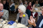 Guest speaker Diane Rehm and American University President Emeritus Neil Kerwin at Olli's 35th anniversary luncheon.