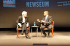 Photo: Nick Clooney, left, interviews Juan Williams on Dec. 9 during Reel Journalism.