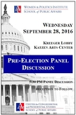 Pre Election Discussion Panel 2016