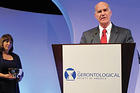 Provost Scott Bass at the Gerontological Society of America's meeting in Boston.