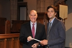 Scott Bass presents award to Andrew Merluzzi