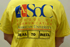 Volunteers at Silverdocs will be sporting t-shirts with the SOC logo.