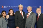 From left: Kavita Mak, Jennifer Fernandez, William Reilly, Bob Graham and Dan Fiorino