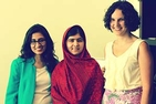 (R to L) Olivia Curl, Malala Yousafazi and Lena Shareef