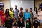 Anthropology professor Nina Shapiro-Perl with students who participated in the Community Voice Project.