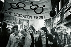 Gay Liberation Front members march through Times Square