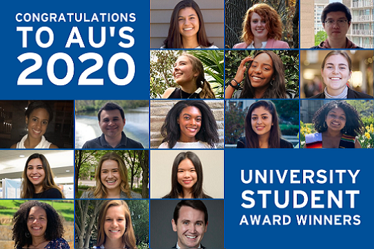 Congratulations to AU's 2020 University student award winners
