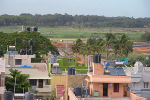 Wetlands and village in Bangalore