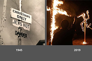 Anti-Semitic behavior in both 1945 and 2019