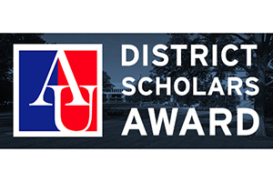 District Scholars Award and American University logo