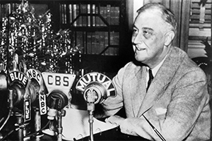 FDR at fireside chat